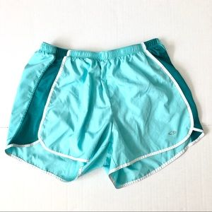Champion Turquoise Lined Running Shorts